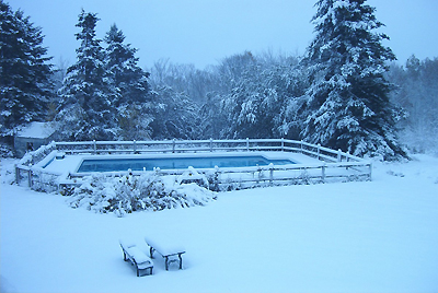 sudden snow on the Wiley Pool